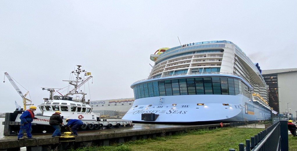 Odyssey Of The Seas Leaves Building Dock at Meyer Werft  (November 2020)