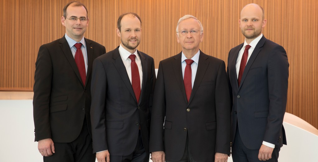 The Meyer Werft Managing Directors (left - right): Thomas Weigend, Dr. Jan Meyer, Bernard Meyer und Tim Meyer